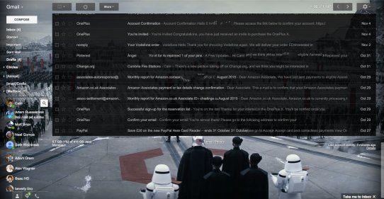 Tema Star Wars di Gmail