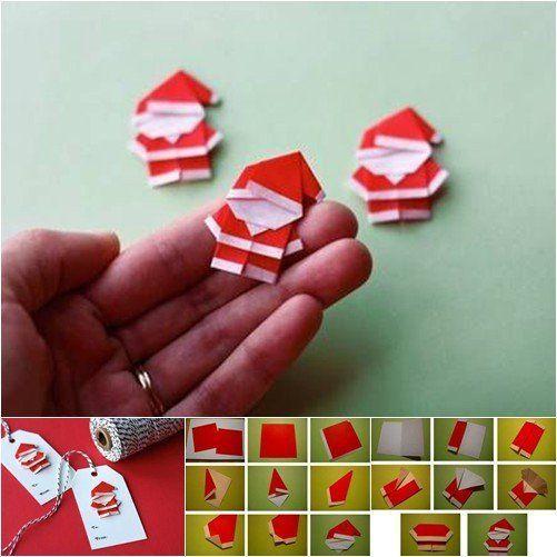 Buat kartu ucapan berbentuk santa