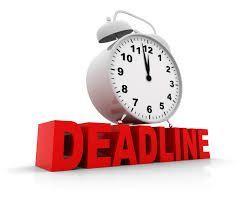Jangan tunggu waktu deadline tiba