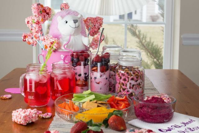 Pretty in Pink Valentine's Day Party Snacks