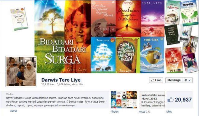 Fanpage Tere Liye