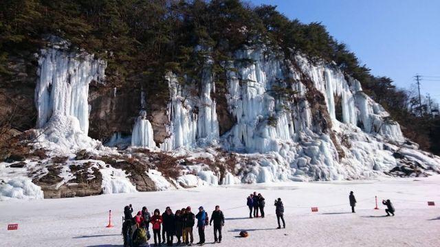 Trekking di atas es!