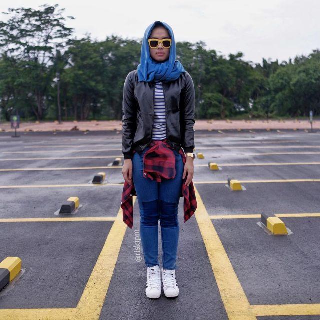 Leather Jacket HOTD ala Riski Putri Malida
