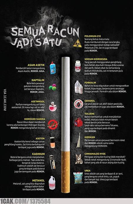 bahaya merokok, tuh isinya racun doang