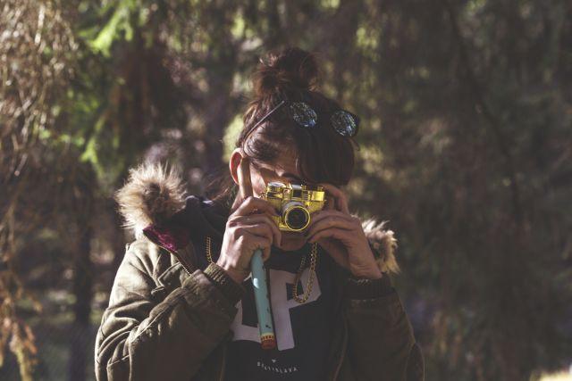 A woman taking photograph