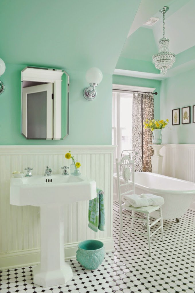 10 desain interior vintage ini dijamin bikin kamu pingin - Badezimmer 50er ...