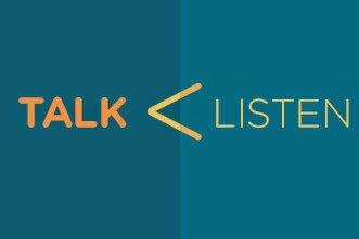 lebih banyak mendengar dari pada berbicara