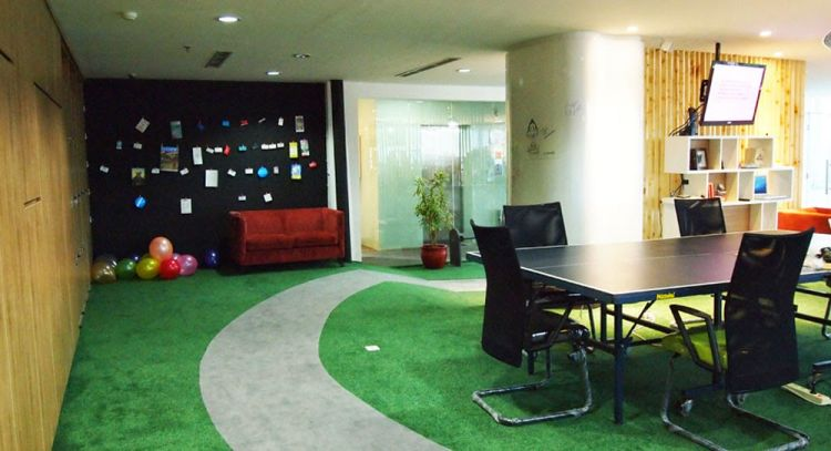 makes the co-working space like a playground!