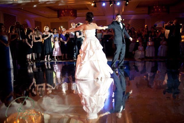 Wedding dance on the floor