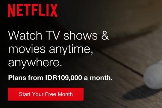 Masuk ke web Netflix, lalu sign in
