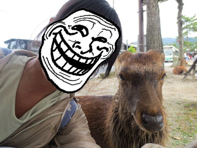 Selfie dengan Rusa di Nara