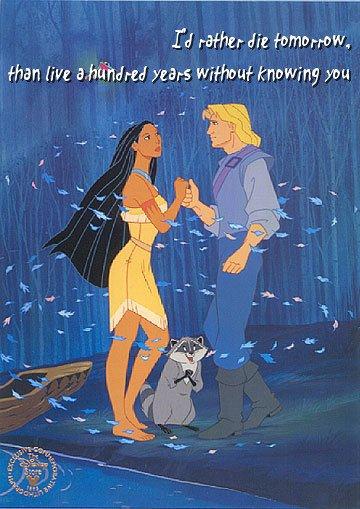 Penggalan romantis dari film Pocahontas. Ada yang masih ingatkah?