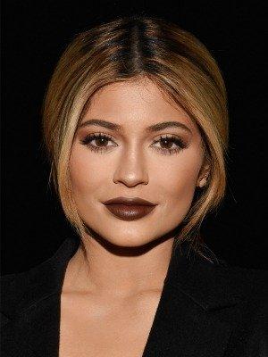 Dark brown lipstick