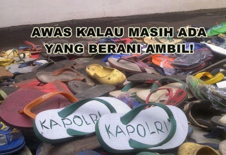sandal anti maling