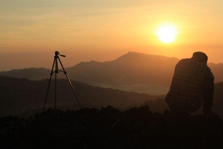 Sunrise dari Gunung Api Purba