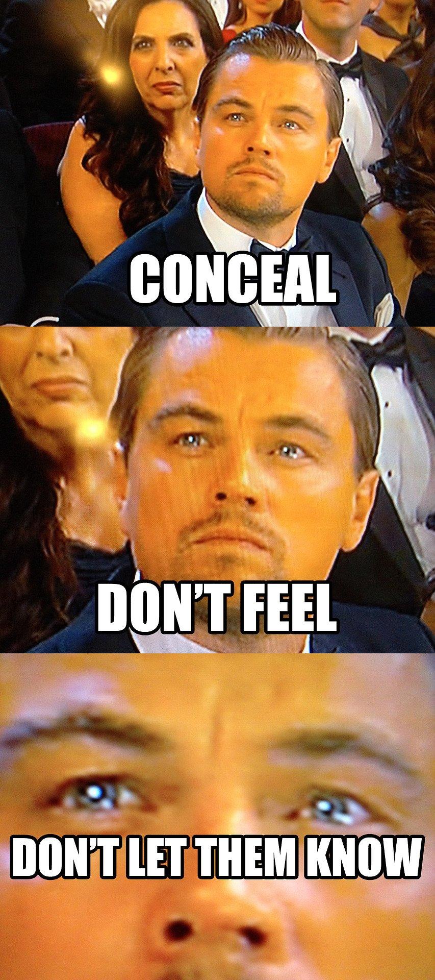 Bang Leo nggak mau kelihatan sedih