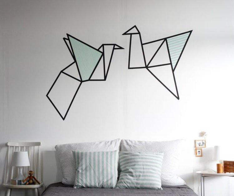 Cuma bermodal isolasi biasa yang murah 10 wall art ini bisa kamu bikin sendiri di rumah - Deco zwarte living ...
