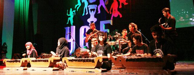 Konser gamelan di TBY