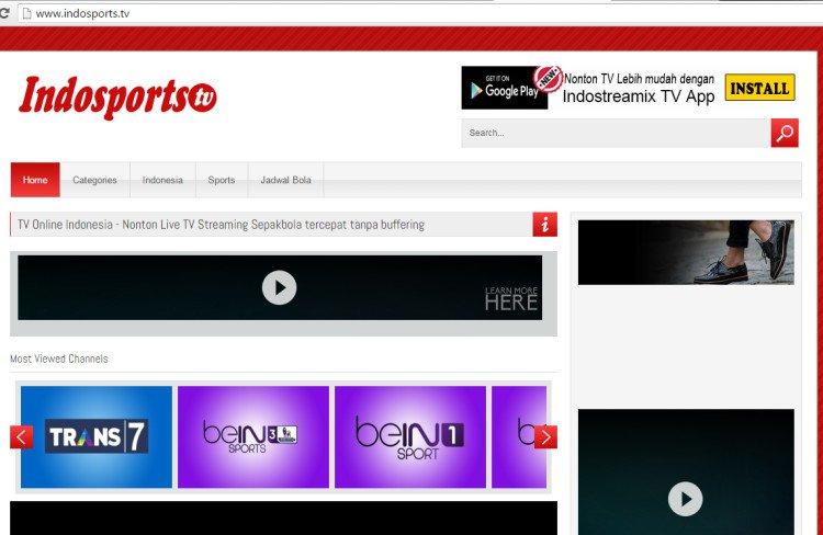 Indosports.tv cukup lengkap lho kalau soal channel olahraga.