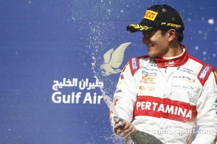 2015 GP2 Series Round 1 - Bahrain International Circuit, Bahrain. Sunday 19 April 2015. Rio Haryanto (INA, Campos Racing) Photo: Sam Bloxham/GP2 Series Media Service. ref: Digital Image _G7C8981