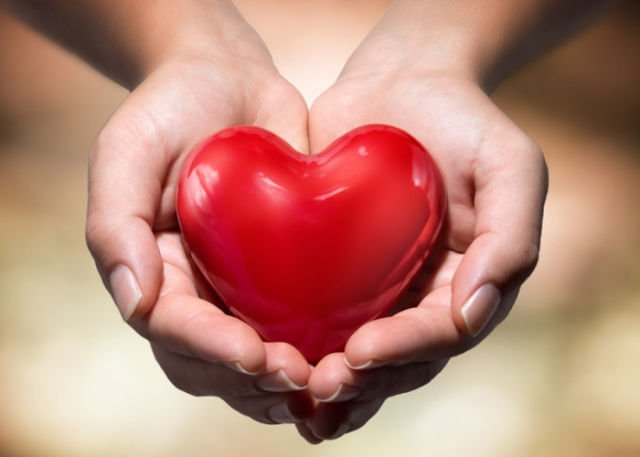 Giving with a pure heart