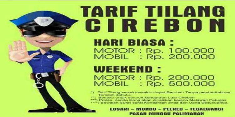 tarif tilang di Cirebon :D