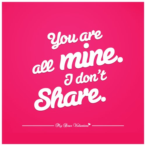 don't share.