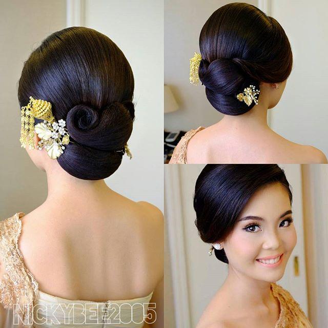 hairstyle sanggul modern rambut pendek 10 model sanggul
