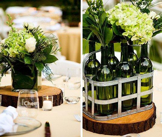 Flower Arrangements In Wine Bottles: Tak Perlu Beli Meja Baru Untuk Hari Pernikahanmu Kelak. 11