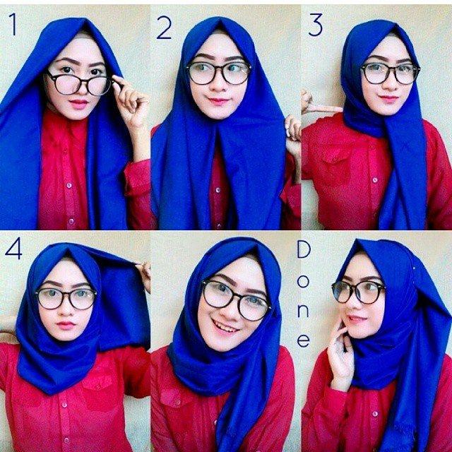 Myblog Tutorial Hijab Pashmina Simple