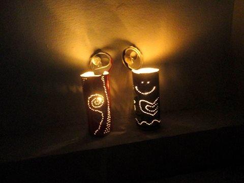 Lampion Romantis dari Kaleng Bekas