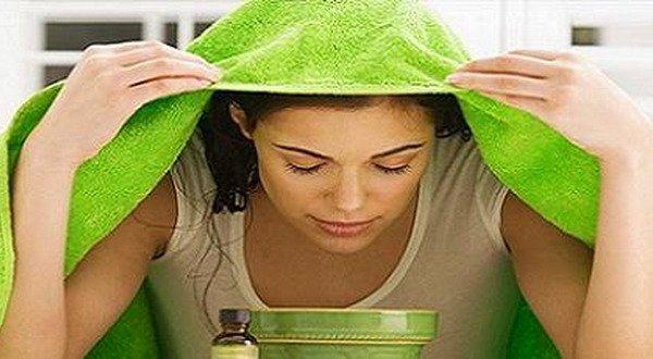 uap hangat untuk meredakan sinus dan radang