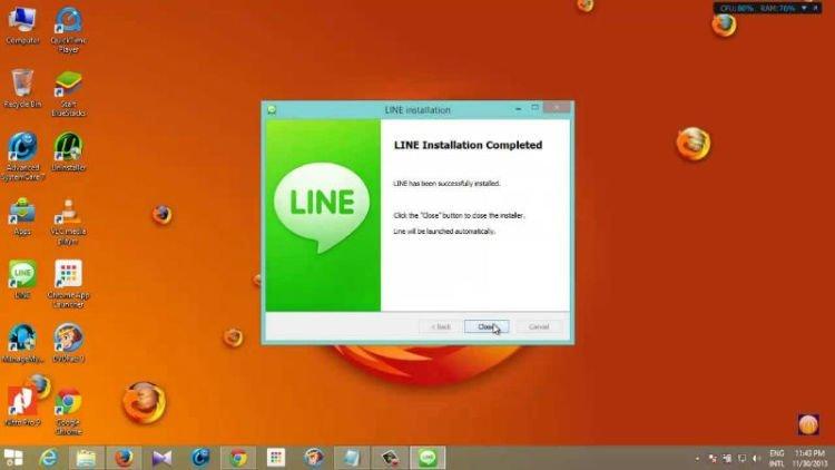 Pakai LINE PC dong!