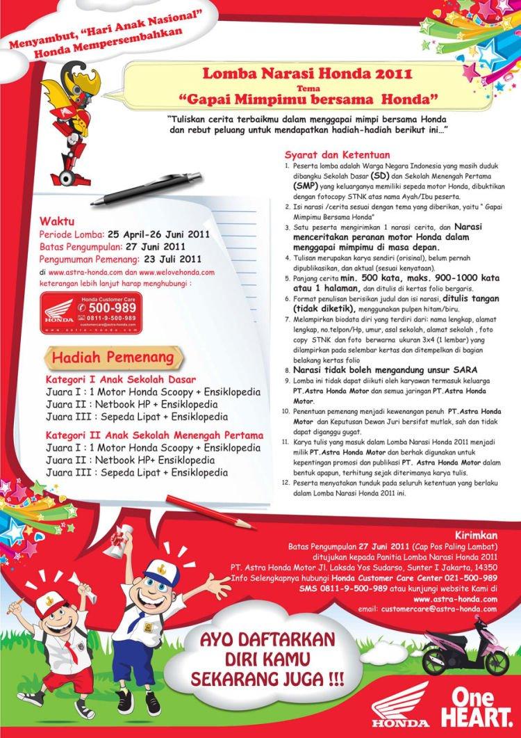 info ajang lomba :)