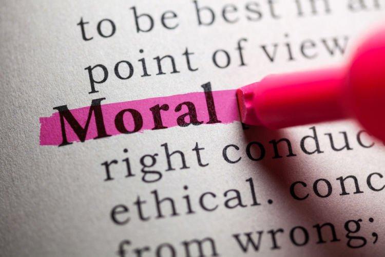 moral yang baik.
