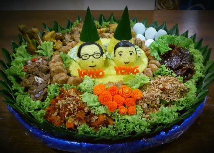 nasi tumoeng untuk si kembar~
