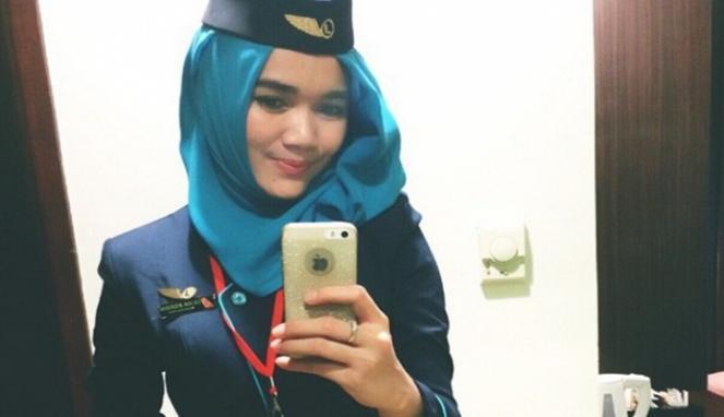 Silvia Agriani, pramugari Nam Air.