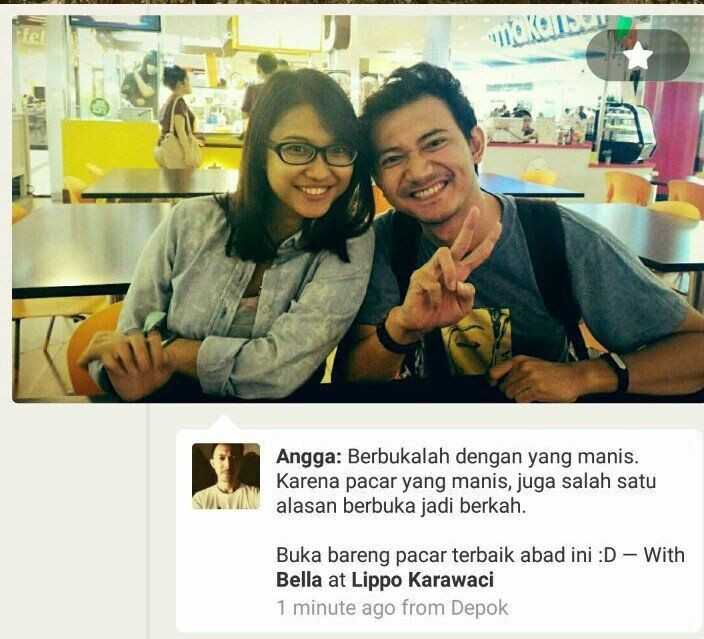 Huh berduaan! credit: Angga Arief