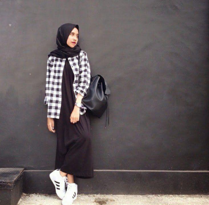 flanel buat hijabmu, top!