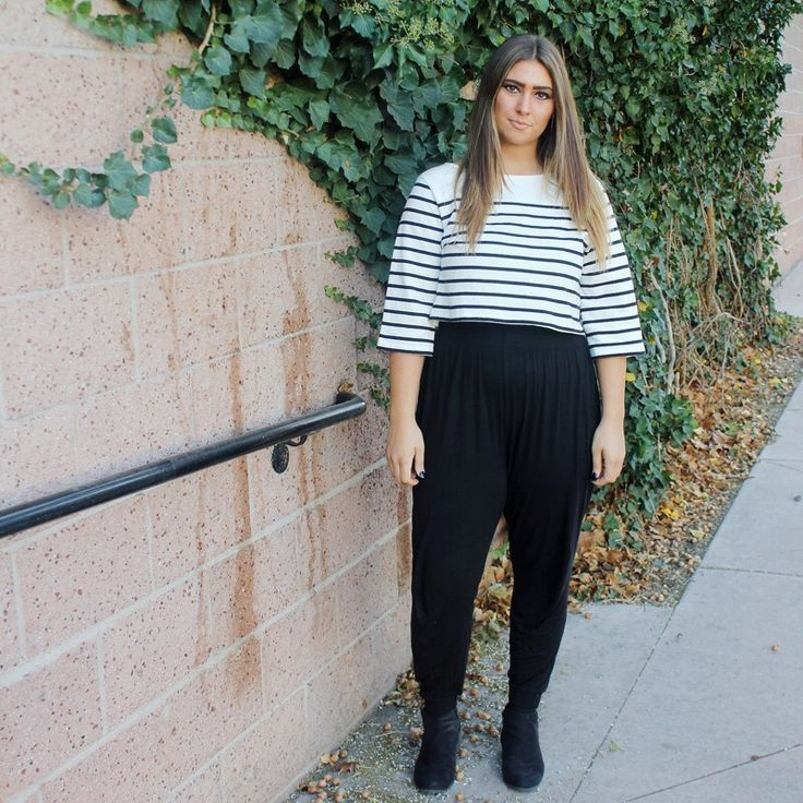 blouse kotak + celana harem