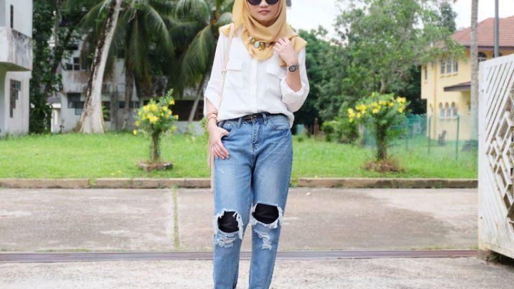 10 Style Buatmu Cewek Berhijab Yang Ingin Pakai Celana