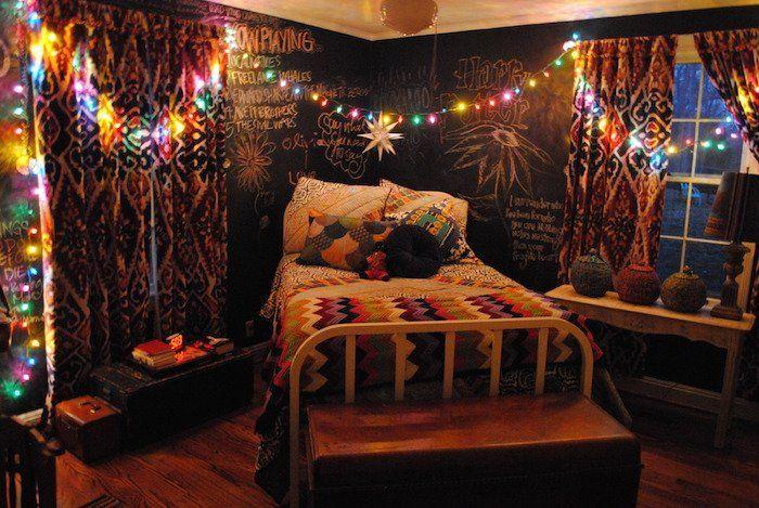 hiasan lampu LED buat pencahayaan kamar lebih menarik