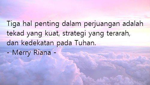 Tekad dan doa berperan dalam kesuksesan.