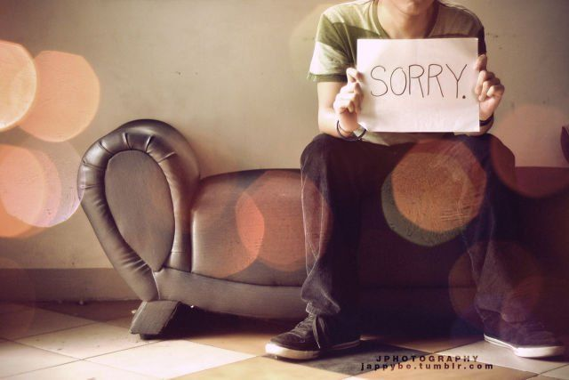 Stop mengatakan sorry