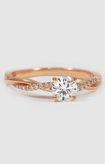 rose gold and diamond