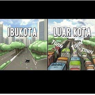 kampung penuh, Jakarta lengang