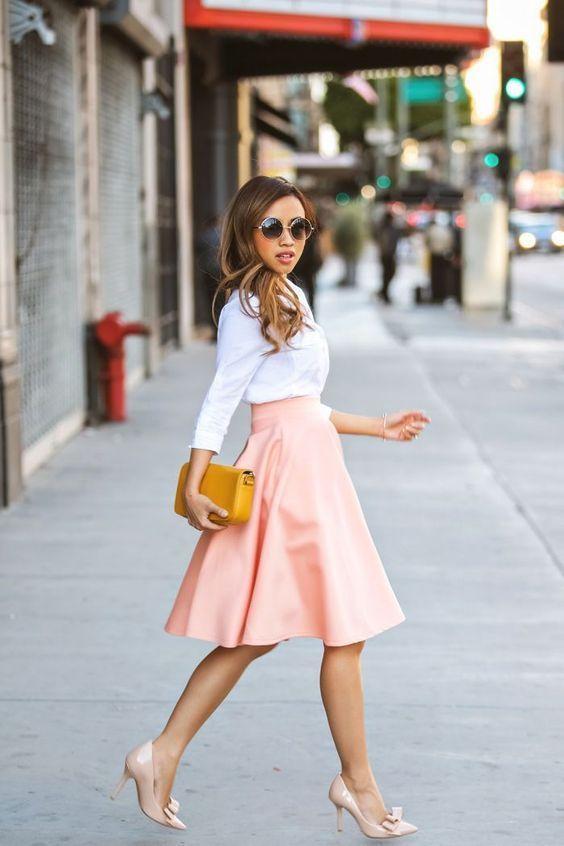 rok peach yang cantik