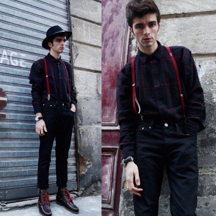 terlihat vintage dengan suspender
