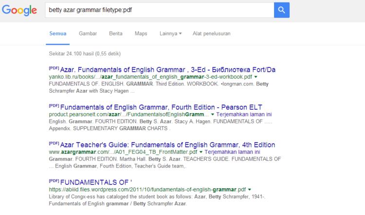 Hasilnya PDF semua~