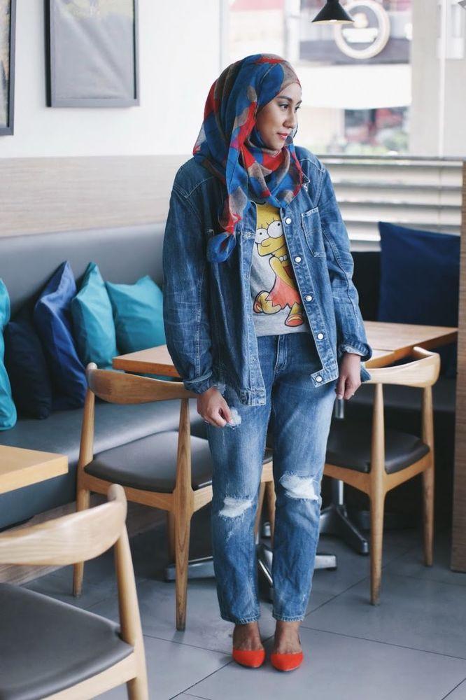 jaket dan boyfriend jeans